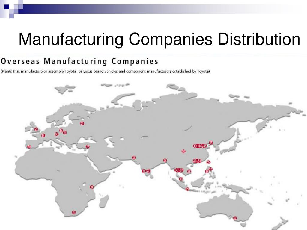 Manufacturing Companies Distribution