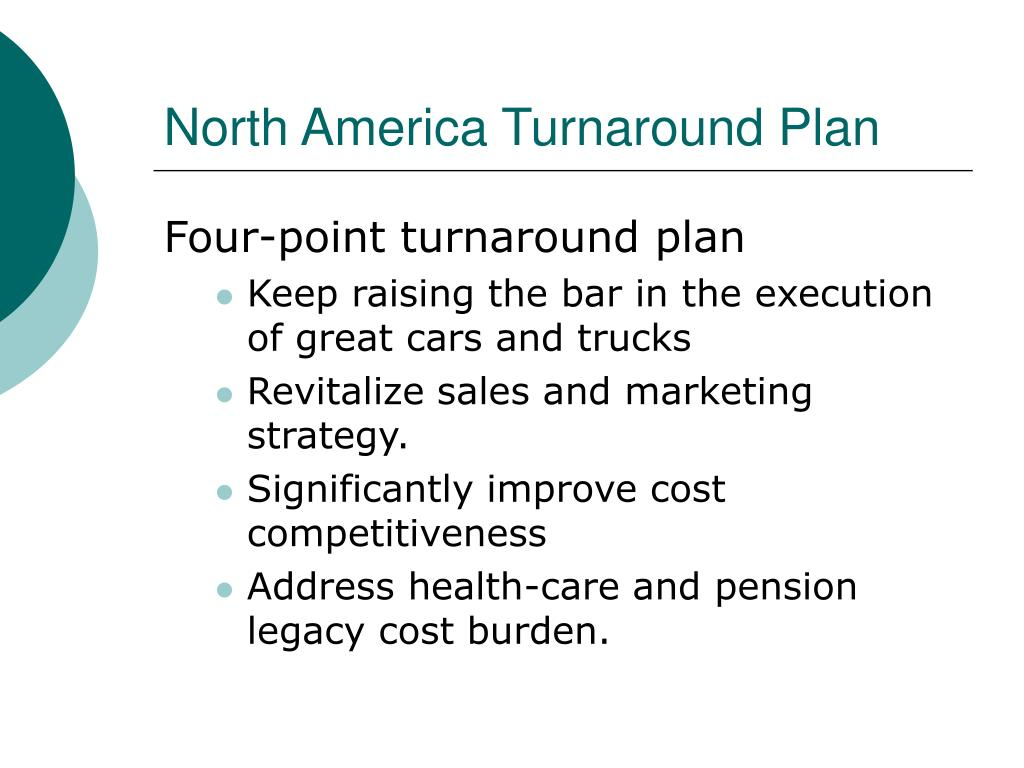 North America Turnaround Plan