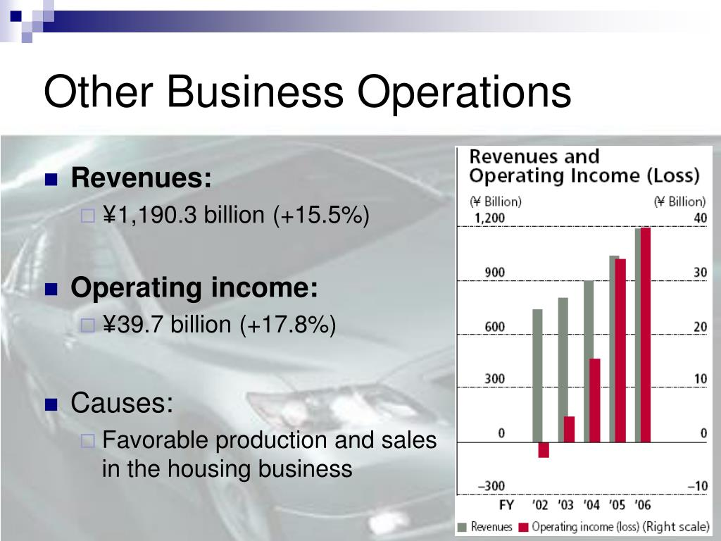 Other Business Operations