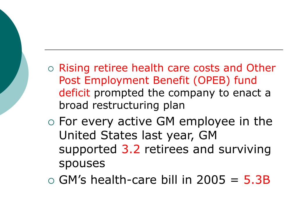 Rising retiree health care costs and Other Post Employment Benefit (OPEB) fund deficit