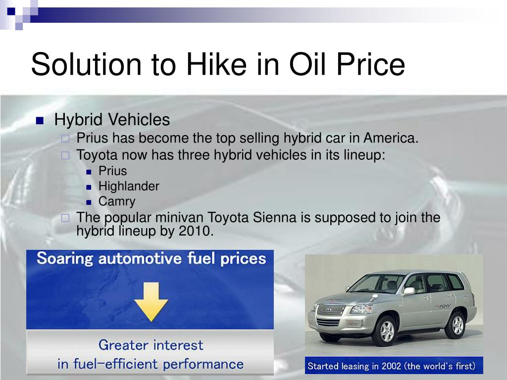 Solution to Hike in Oil Price