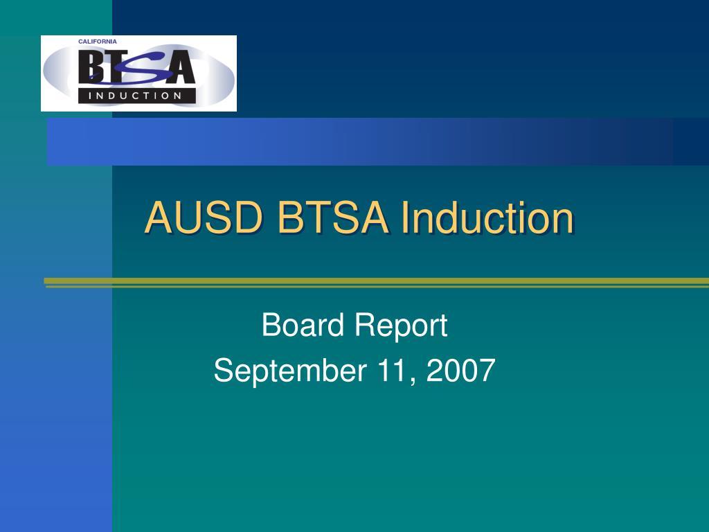 AUSD BTSA Induction