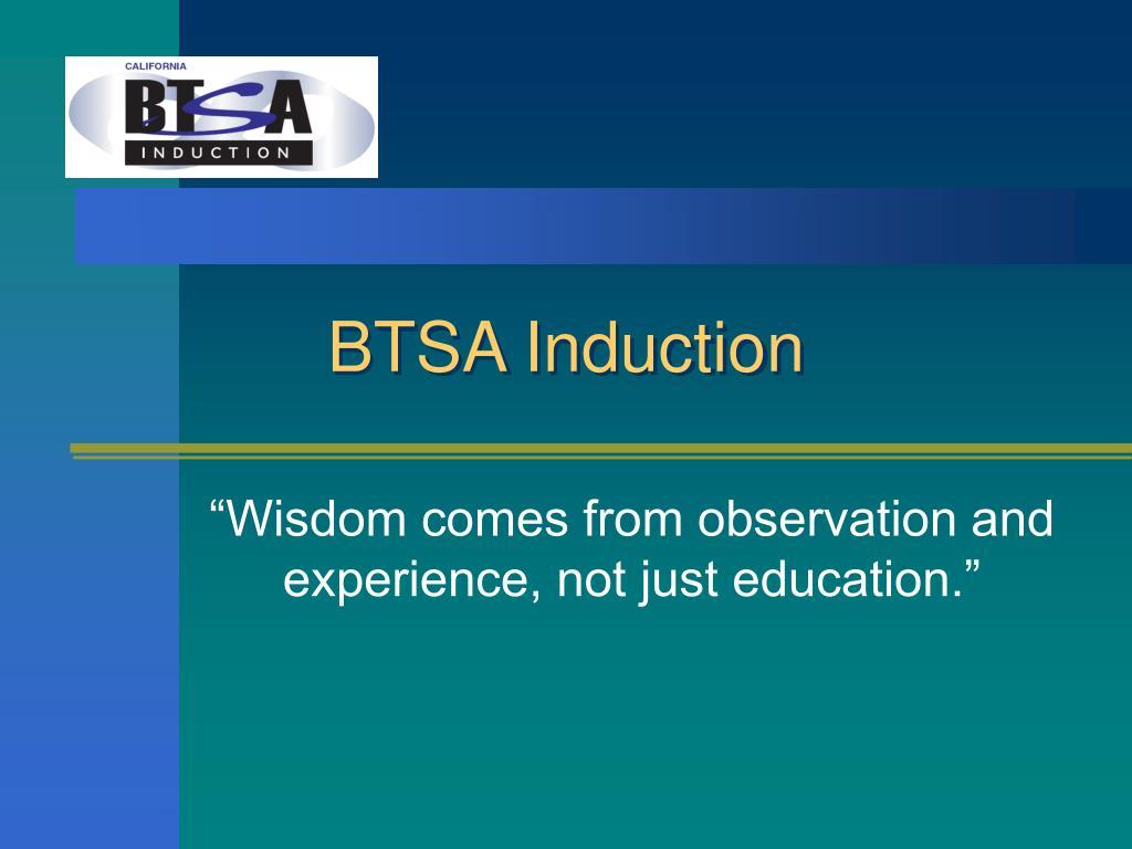 BTSA Induction