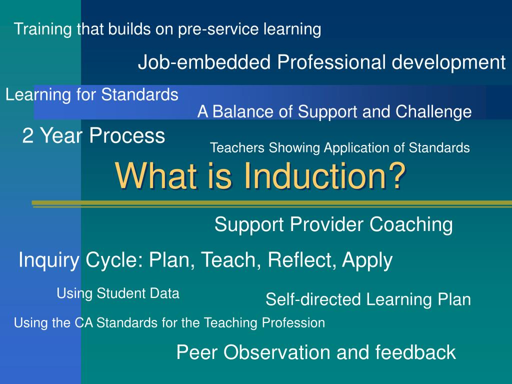 Training that builds on pre-service learning