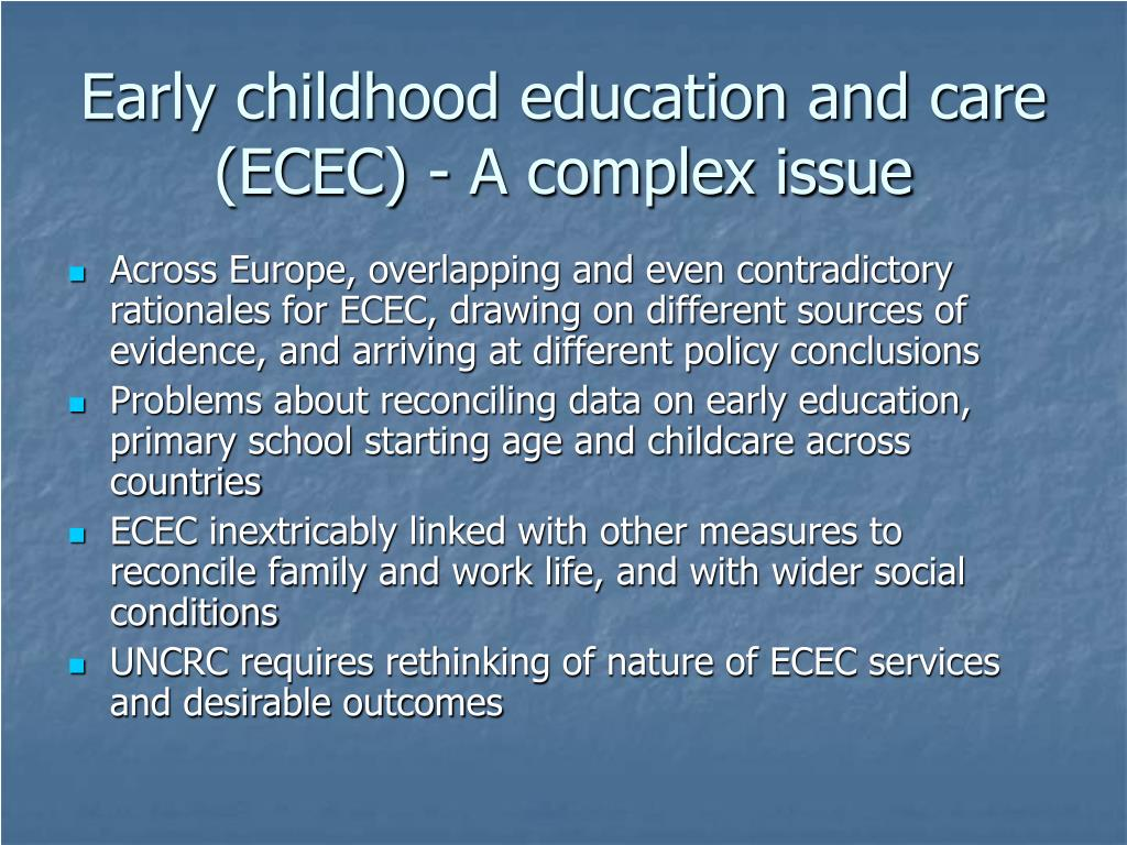 Canadas policies on early childhood education and care