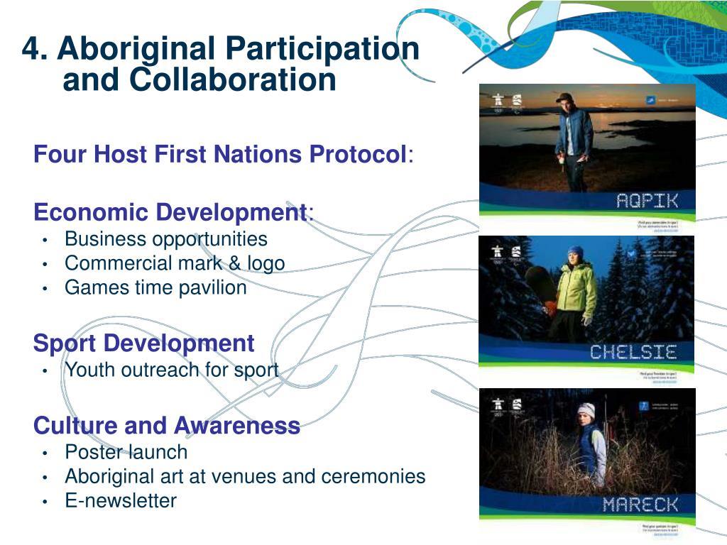 4. Aboriginal Participation