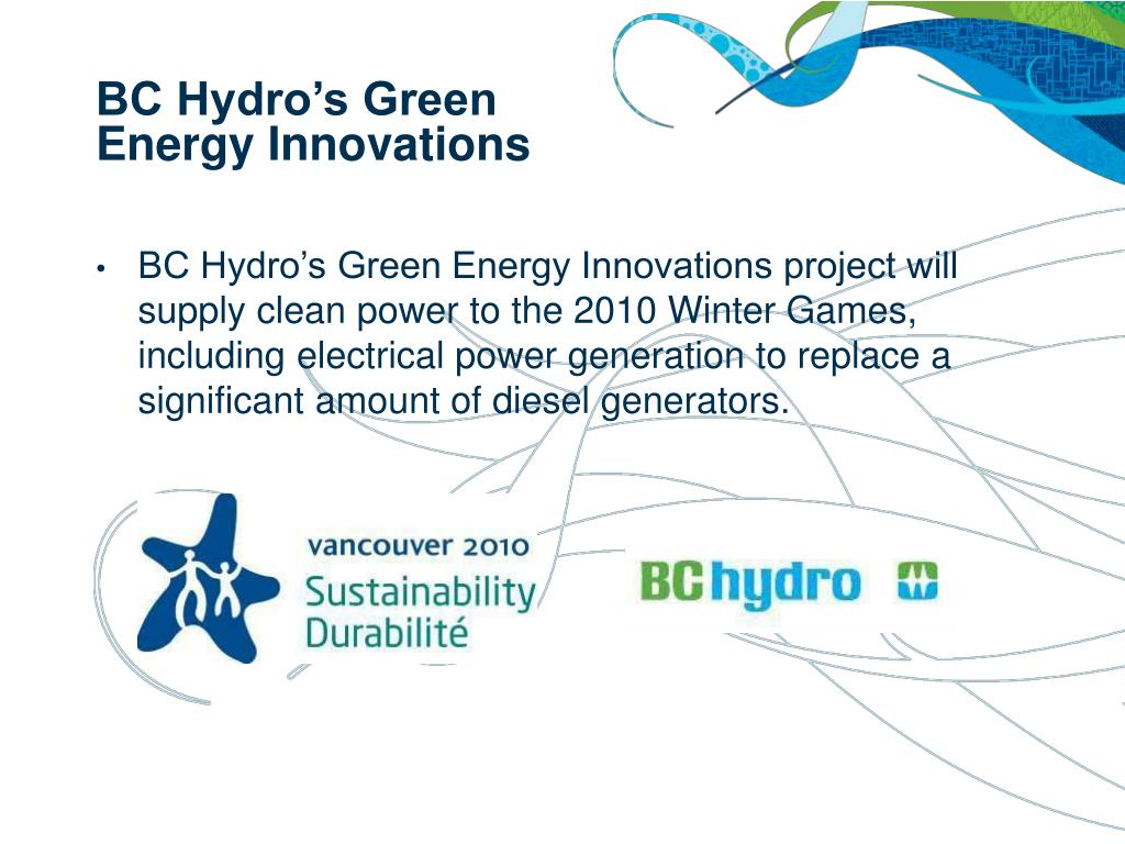 BC Hydro's Green Energy Innovations