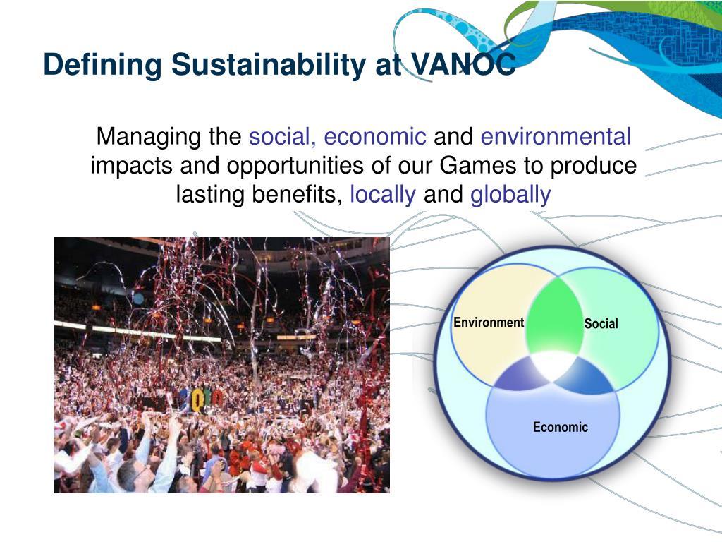Defining Sustainability at VANOC