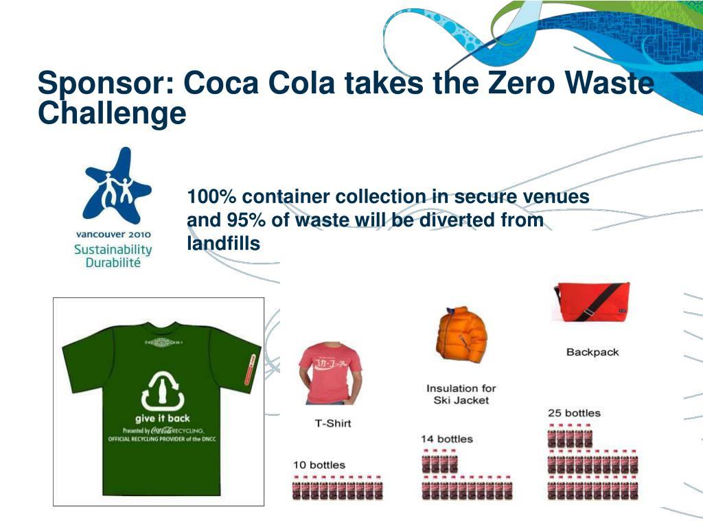 Sponsor: Coca Cola takes the Zero Waste Challenge