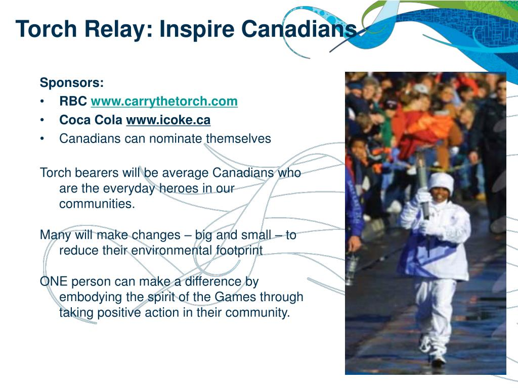 Torch Relay: Inspire Canadians