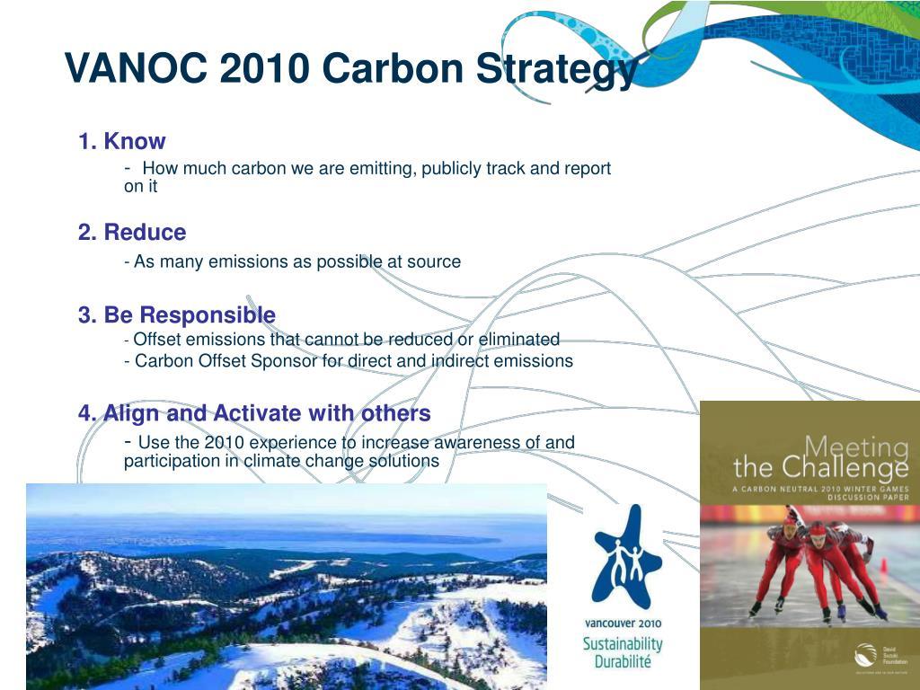 VANOC 2010 Carbon Strategy