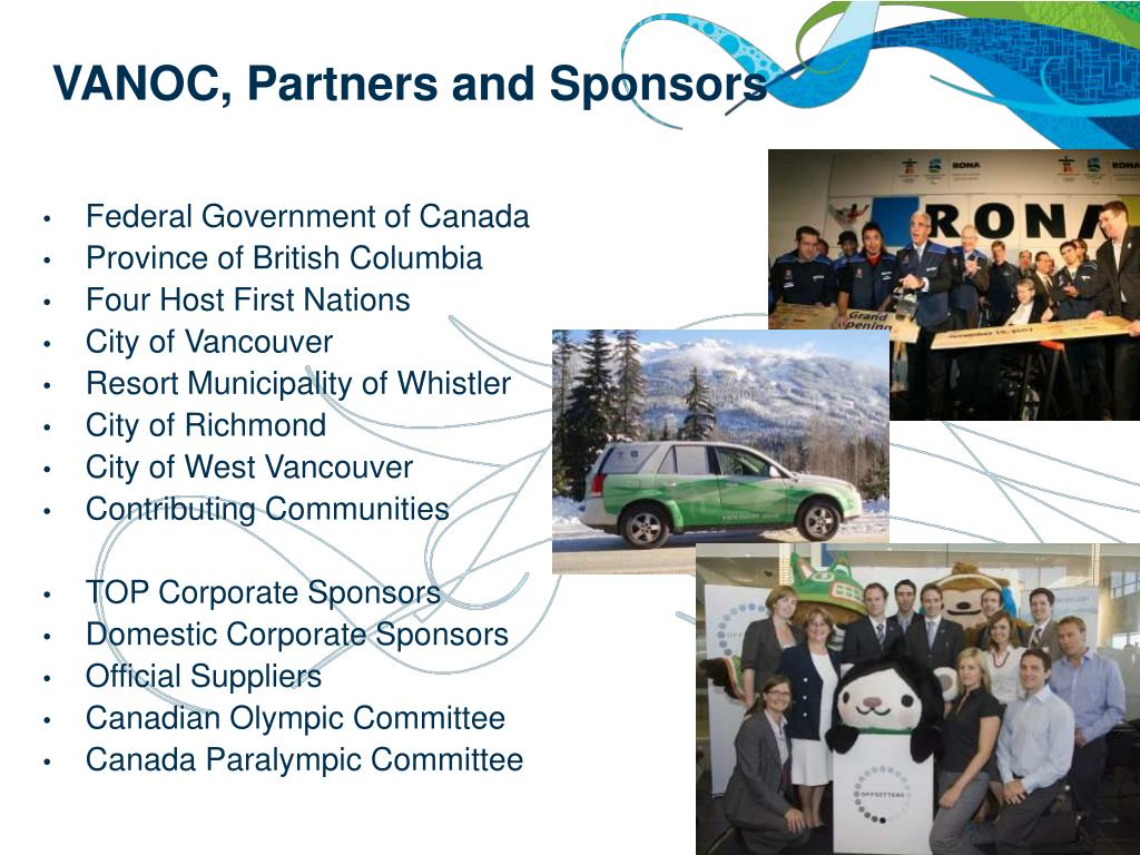 VANOC, Partners and Sponsors