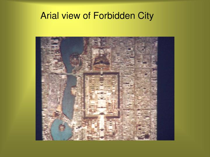 Arial view of Forbidden City