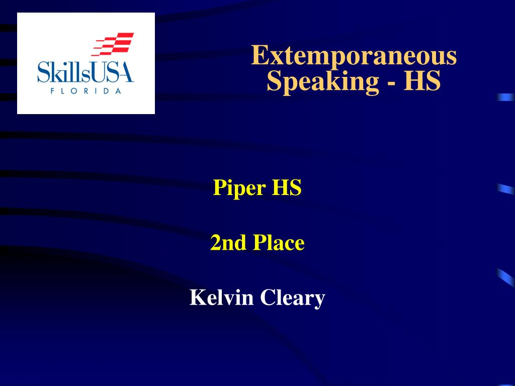 Extemporaneous      Speaking - HS