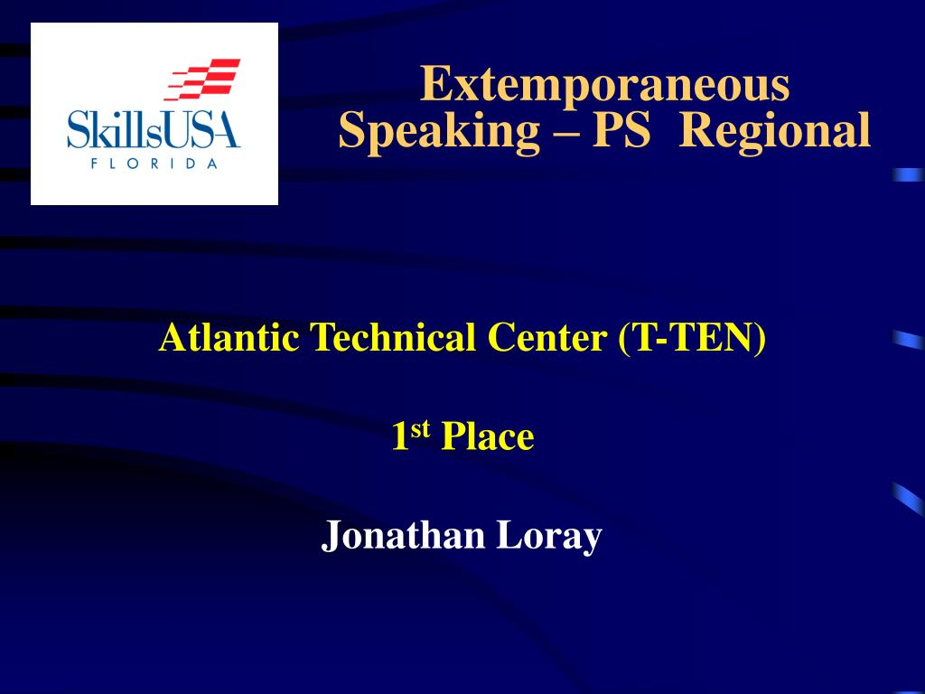 Extemporaneous      Speaking – PS  Regional
