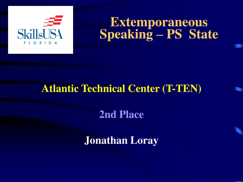 Extemporaneous      Speaking – PS  State