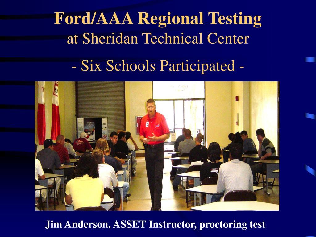 Ford/AAA Regional Testing