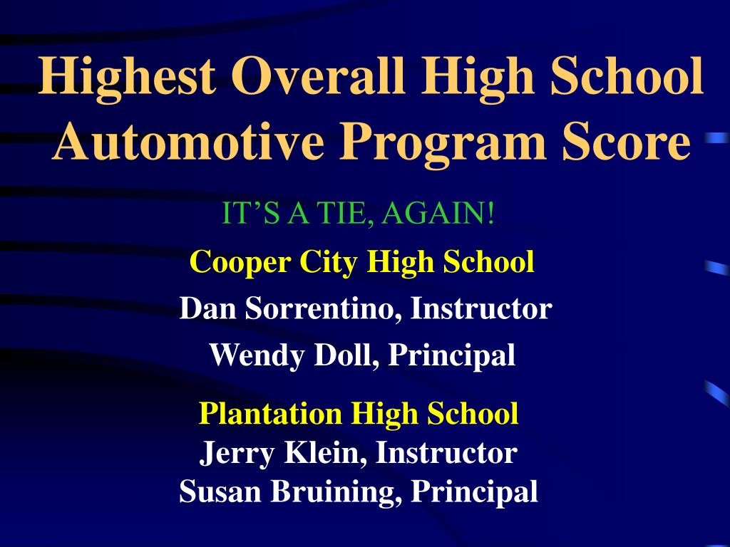 Highest Overall High School