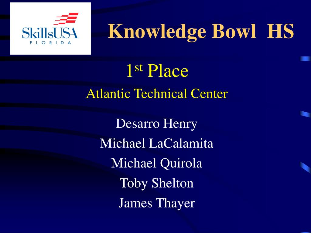Knowledge Bowl  HS