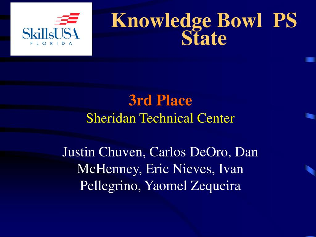 Knowledge Bowl  PS