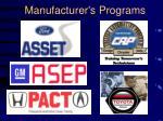manufacturer s programs
