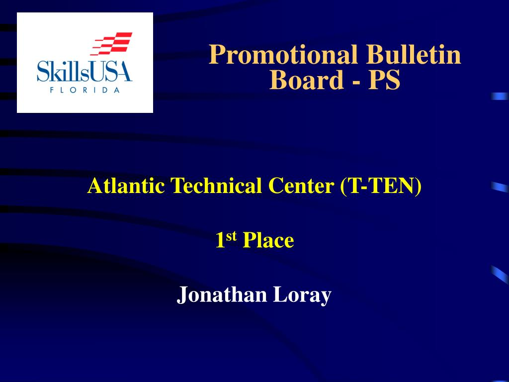Promotional Bulletin Board - PS