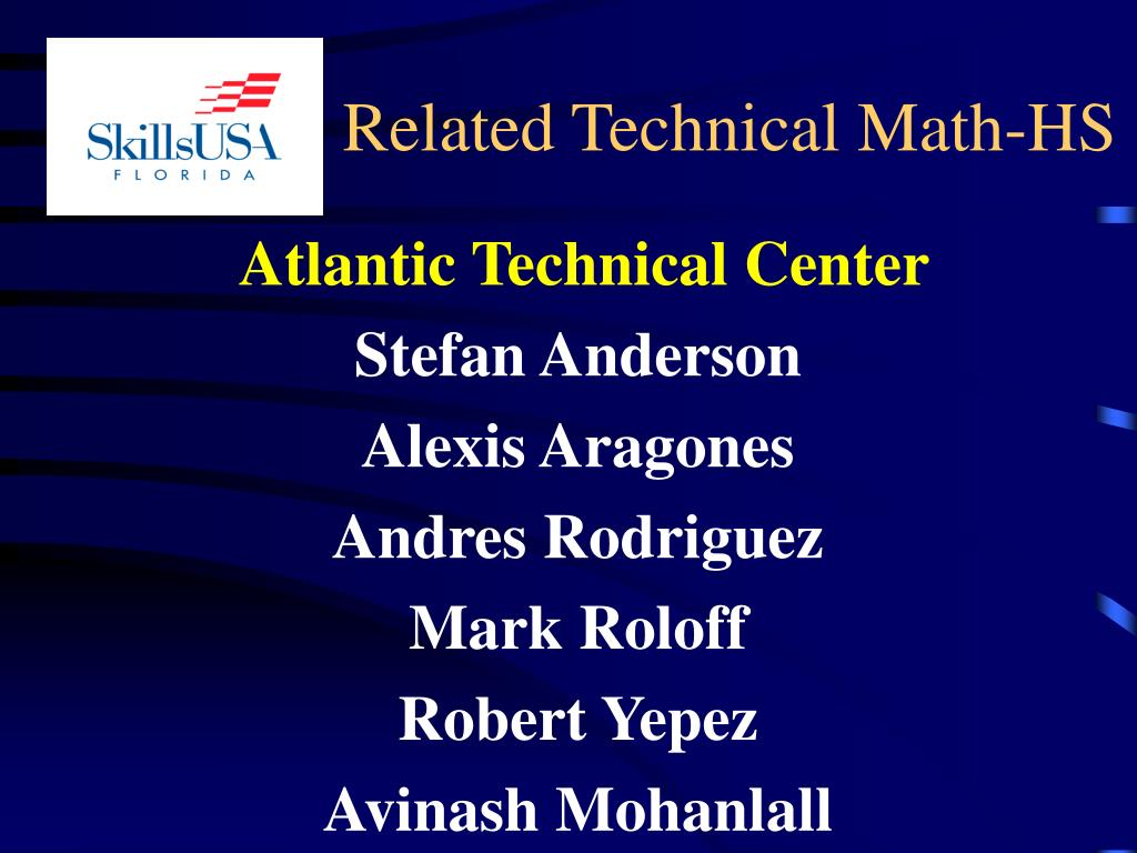 Related Technical Math-HS