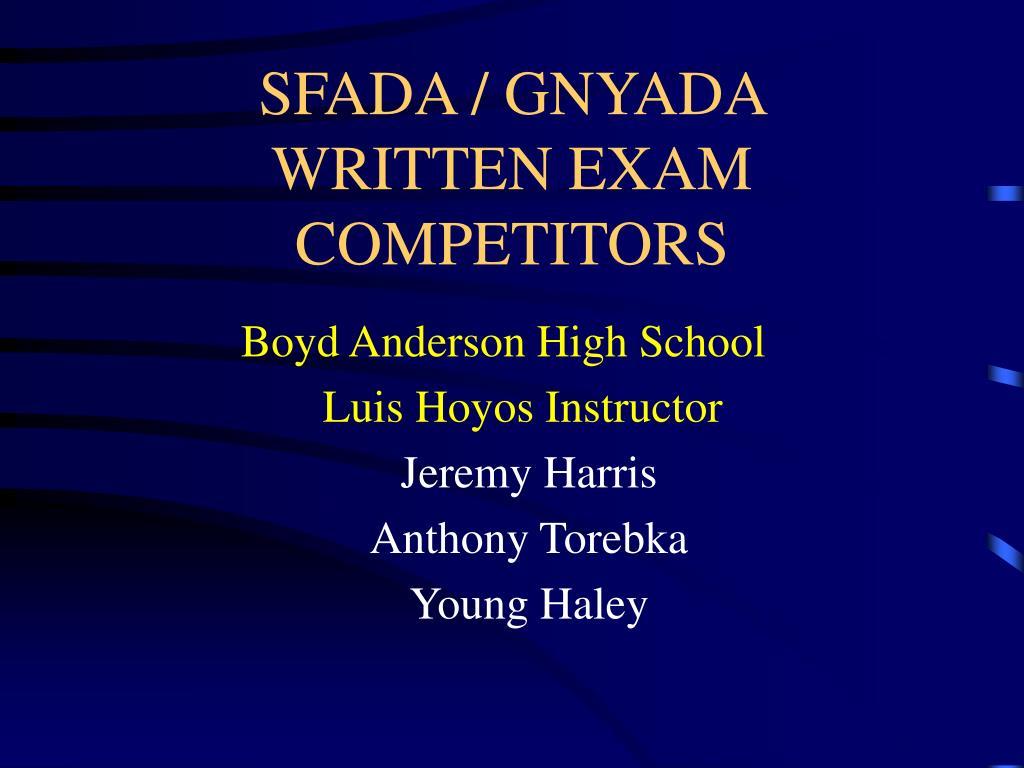 SFADA / GNYADA