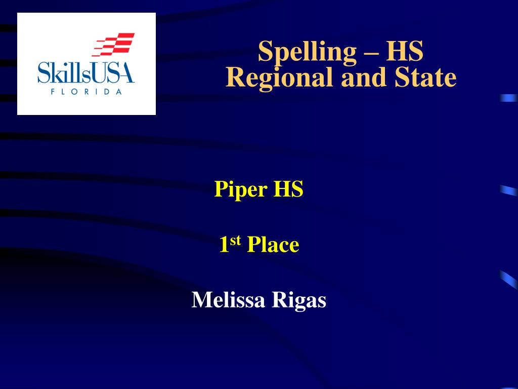 Spelling – HS