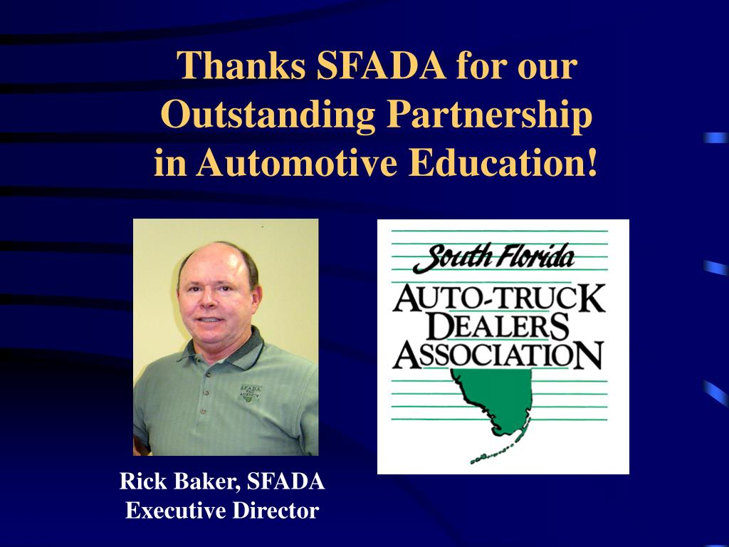 Thanks SFADA for our Outstanding Partnership