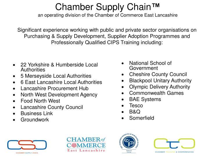22 Yorkshire & Humberside Local Authorities