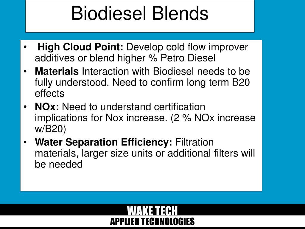 Biodiesel Blends