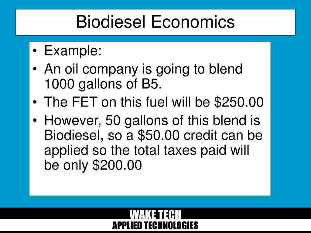 Biodiesel Economics