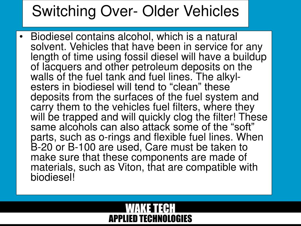 Switching Over- Older Vehicles