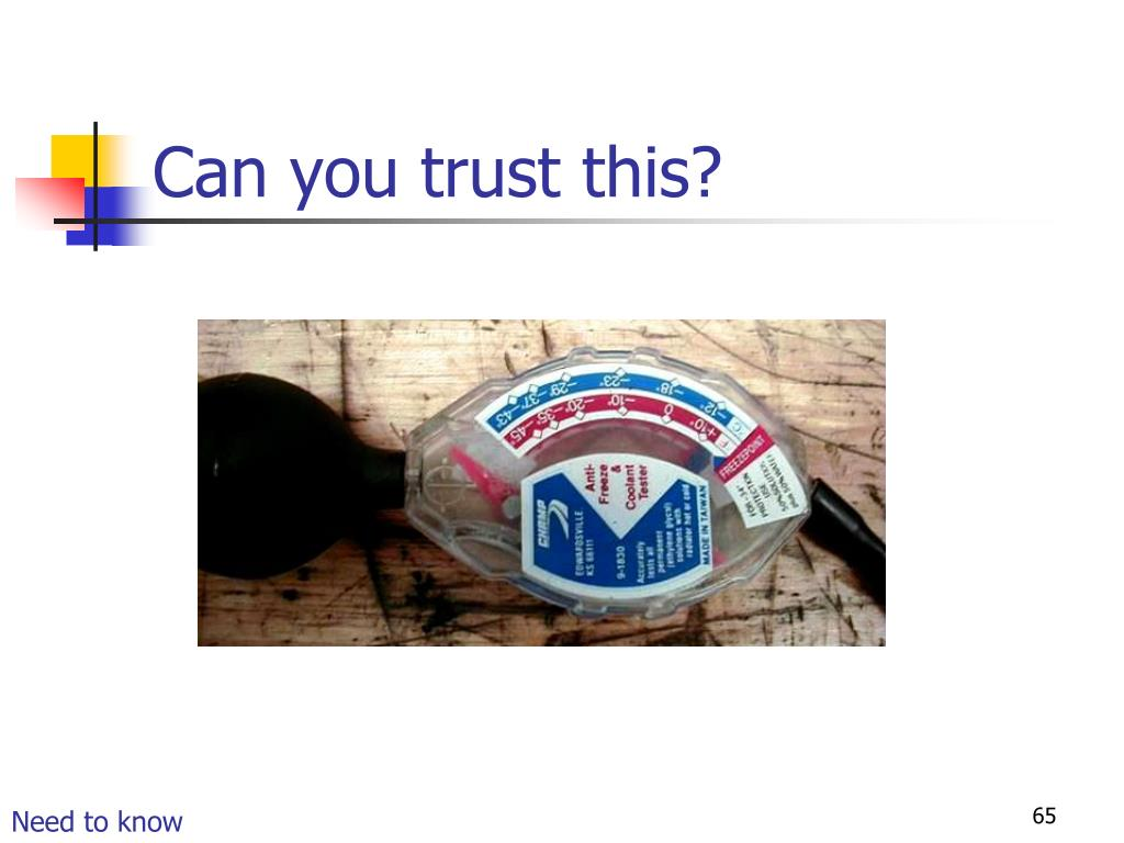 Can you trust this?