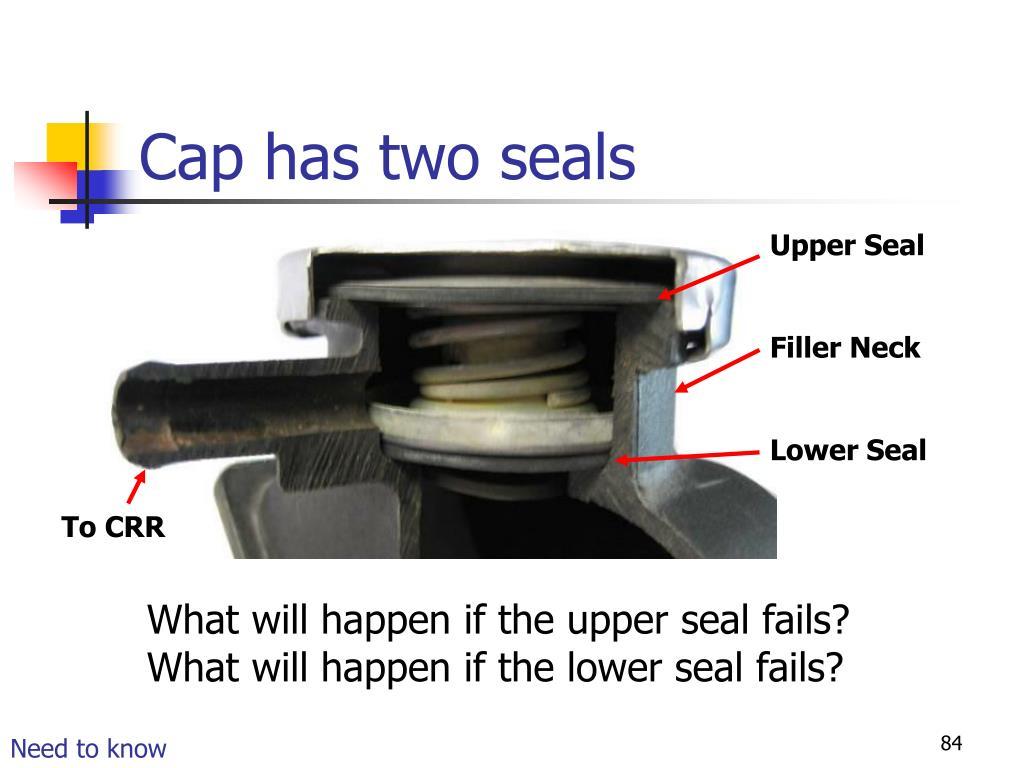 Cap has two seals
