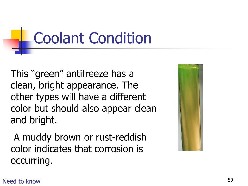Coolant Condition