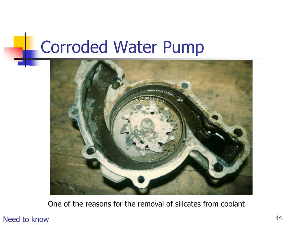 Corroded Water Pump