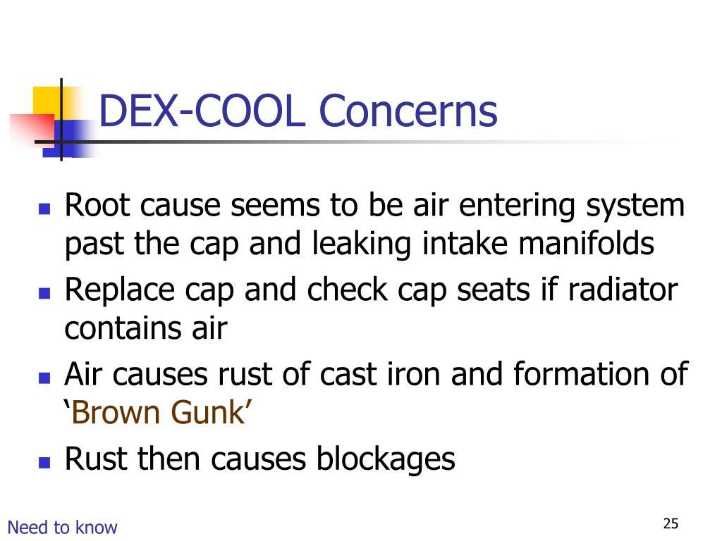 DEX-COOL Concerns