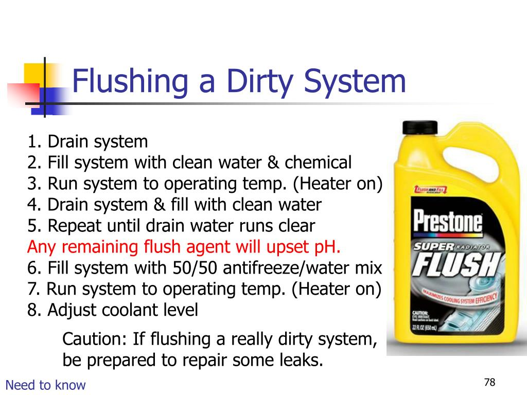 Flushing a Dirty System