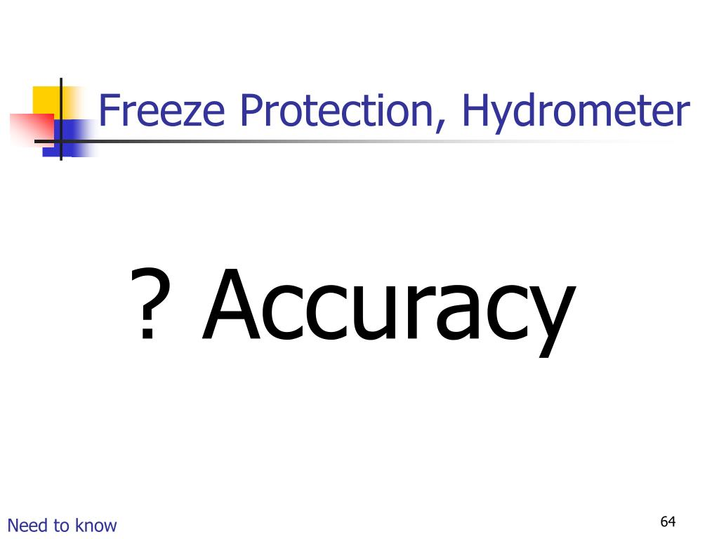 Freeze Protection, Hydrometer