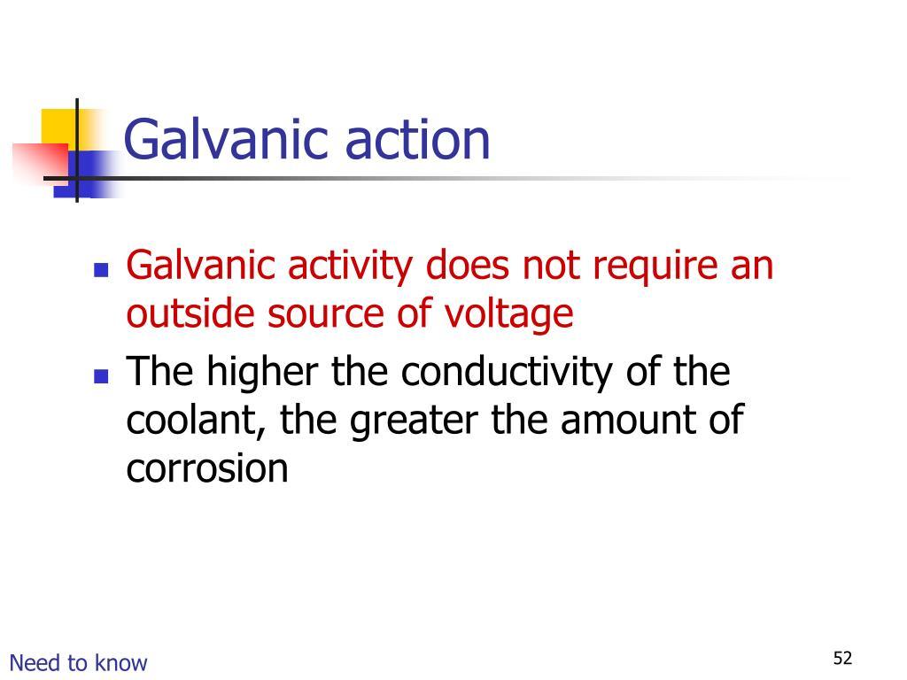 Galvanic action