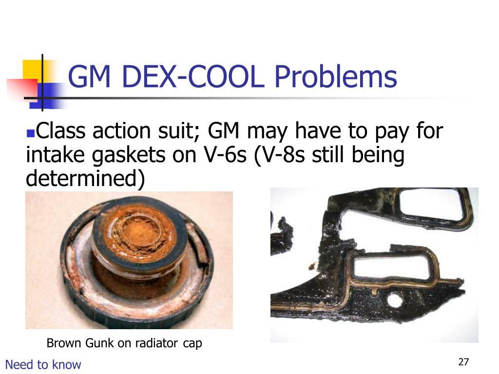 GM DEX-COOL Problems