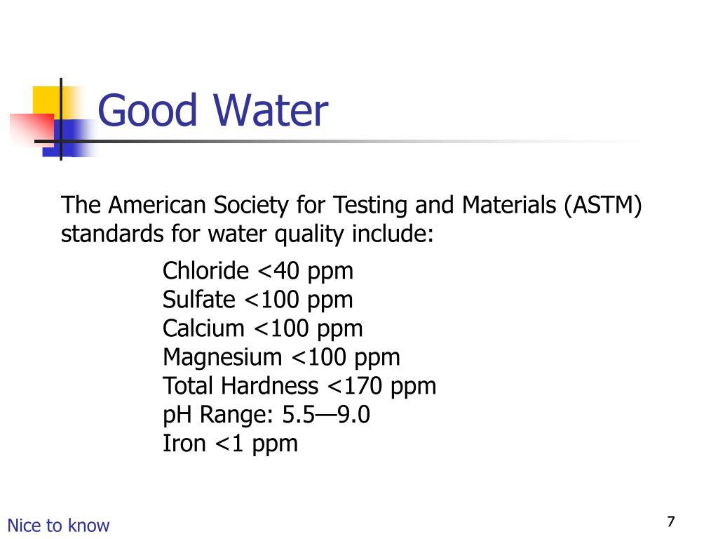 Good Water