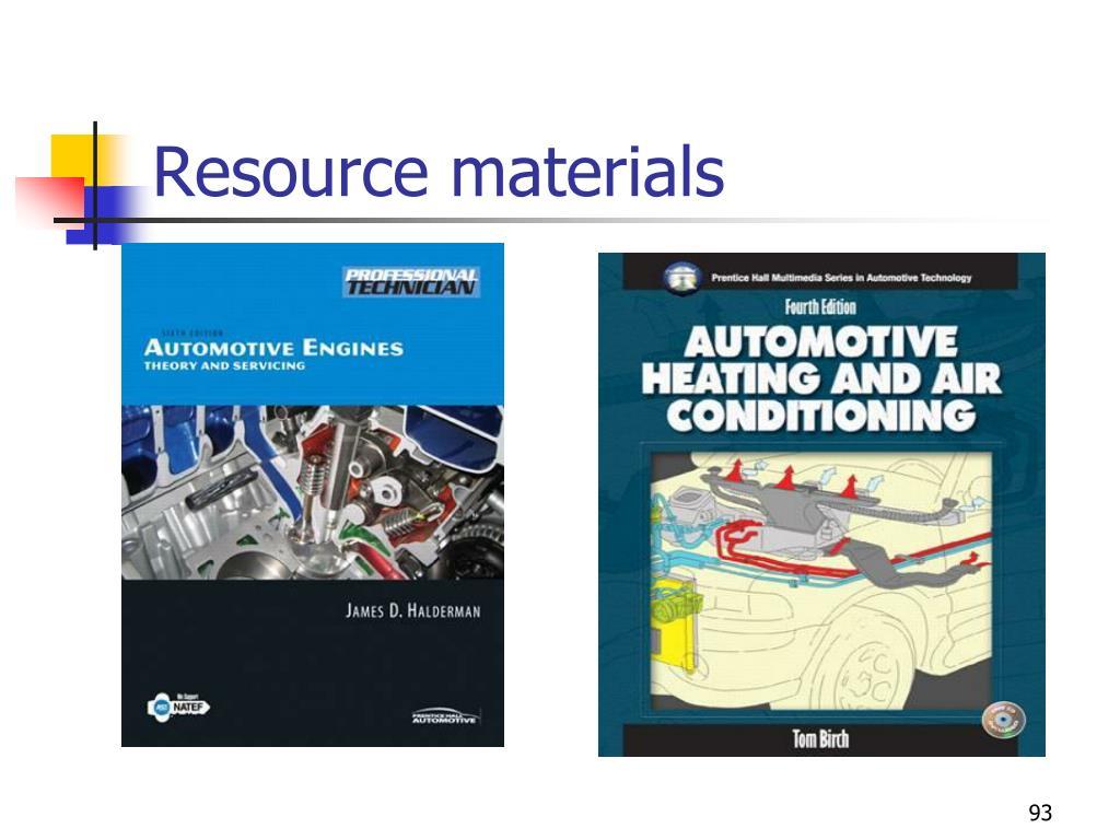 Resource materials