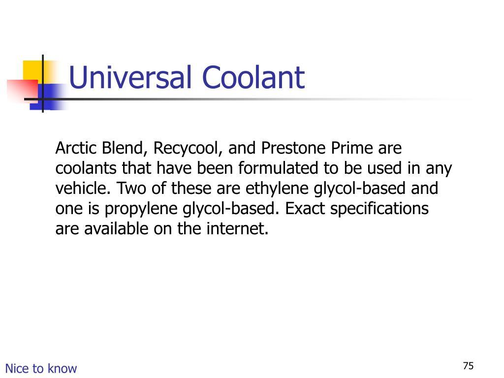 Universal Coolant