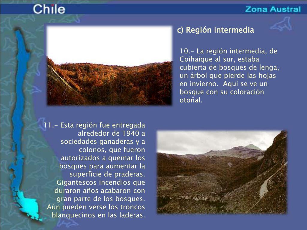 c) Región intermedia