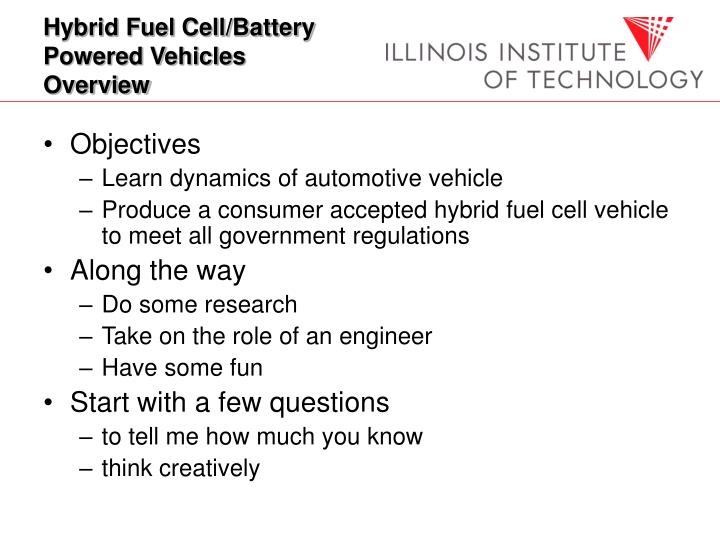 Hybrid fuel cell battery powered vehicles overview