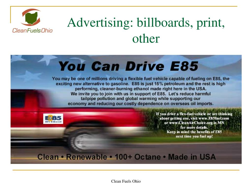Advertising: billboards, print, other