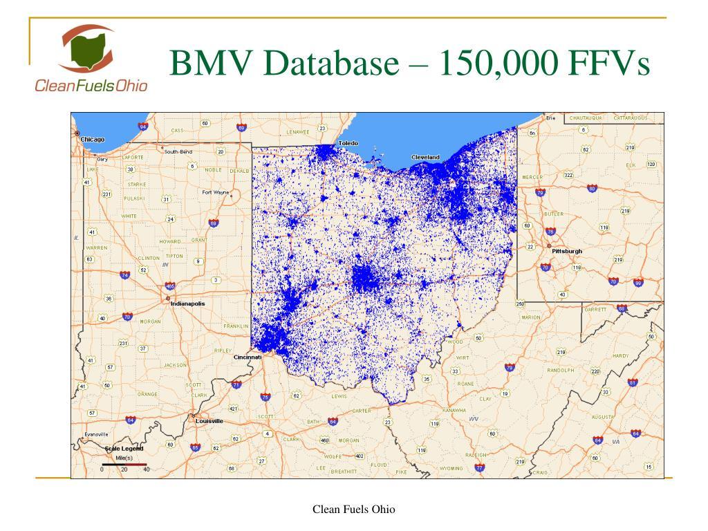 BMV Database – 150,000 FFVs